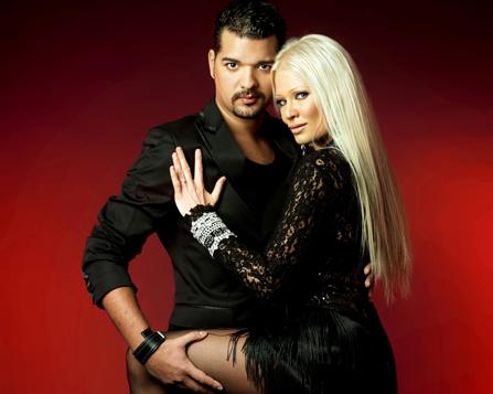 Let's dance. Linda Lampenius och Daniel da Silva.