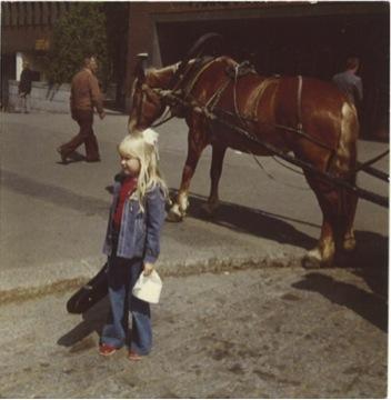 Linda på violinläger 1976
